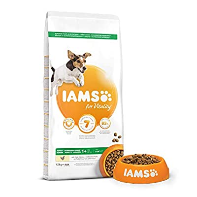 IAMS for Vitality Adult Dog Food Small/Medium Breed with Fresh Chicken, 12 kg from IAMS