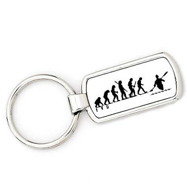 Mans Evolution Keyring Ape to Canoe Kayak key ring gift by Mans Evolution Merchandise