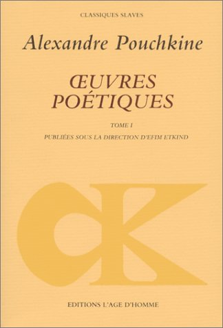 Oeuvres poétiques, tome 1