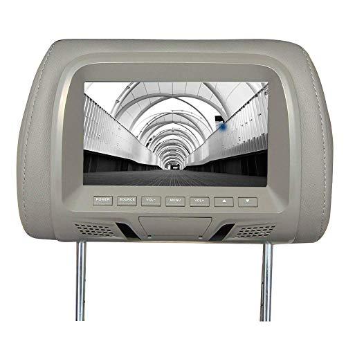 GCDN Universell Auto Kopfstützen Display with 7 Zoll LED Bildschirm DVD Player, mit Eingebauten Lautsprecher und Navigation Funktion. Verstellbar Stange Auto Kopfstütze Monitor für Alle Auto Modelle
