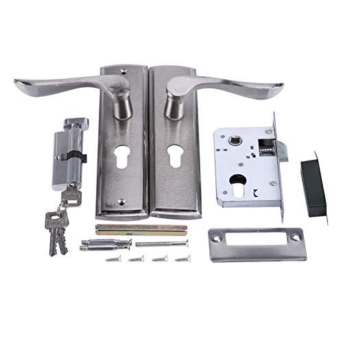 Schloss, langlebiger Türgriff Schließzylinder Vorne Hinten Hebelschloss Home Security mit Schlüsseln für die Reparatur von Hotelzimmertüren