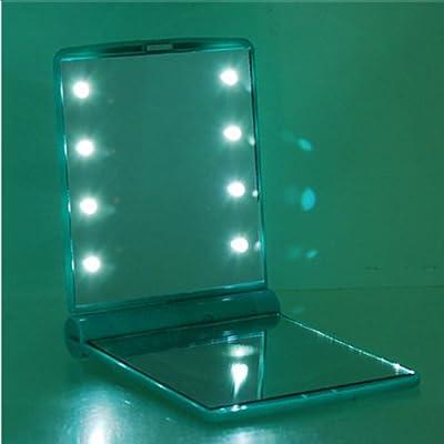 BestOfferBuy Mini 8 LED Licht Taschen Make Up Kosmetik Spiegel
