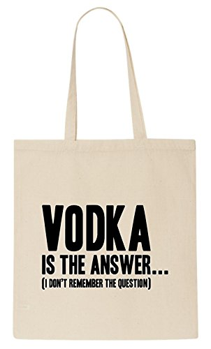 GOLDSHEID Vodka Is The Answer - Tote Bag Shoulder Bag