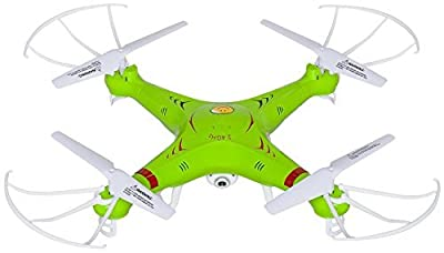 UX5C RC Quadcopter Drone with Camera (720p HD) Headless Mode 2.4GHz 4 CH 6 Axis Gyro RTF Includes BONUS BATTERY Doubles Flying Time