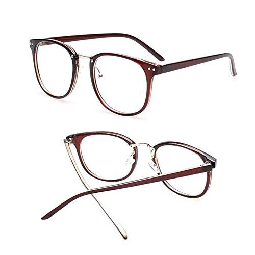 HPTAX-VB Spiegeln Classic Clear Lens Eyewear Nieten Big Round Frame Optische Brillen Brillen Männer Frauen