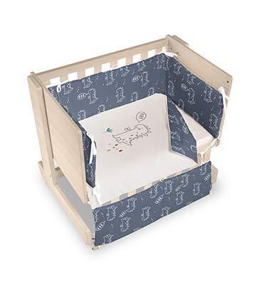 Bimbi Mini Cot Bimbi Casual baby bedroom. Cot bedroom. Natural mini bedspread 19