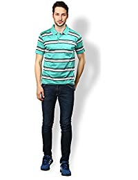 UV&W Men's Organic Casual Printed Polo T-Shirts
