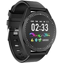FANZIFAN Montre Intelligente 1.3 Pouce écran Tactile Simple Montre Intelligente Hommes Femmes pour Android iOS Tracker de Fitness oxygène de fréquence Cardiaque de la Pression artérielle Smartwat