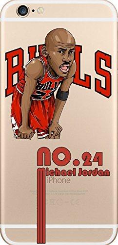 NBA Player Cartoon TPU Soft Case für Apple iPhone 5/5S/5SE MICHAEL JORDAN