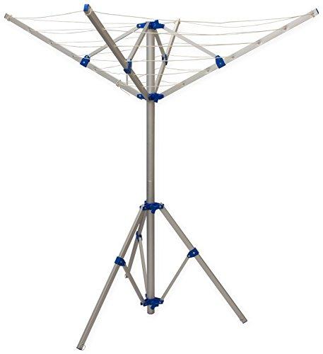 Preisvergleich Produktbild Wäschespinne mit 4 Armen,  freistehender Wäschetrockner,  tragbar,  aus Aluminium,  für Caravan und Camping