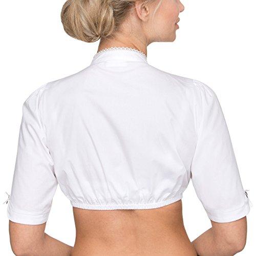 Stockerpoint Damen Trachtenbluse Weiß (Weiss Weiss)