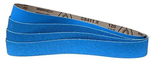 Preisvergleich Produktbild 4-teiliges Premium Set Klingspor Schleifband CS411X | 50 x 1020 mm | Zirkonkorund | Je ein Band der Körnungen 40,60,80 und 120