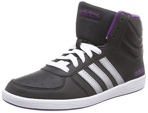 adidas  Baseline VS Mid, basket femmes Noir - Schwarz (Black/Silver/Purple)