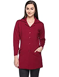 Montrex Women Magenta Stylish Long Coats