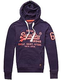 Superdry Womens Shirt Shop Pop Entry Hoodin College Navy Nep f55eadca290b