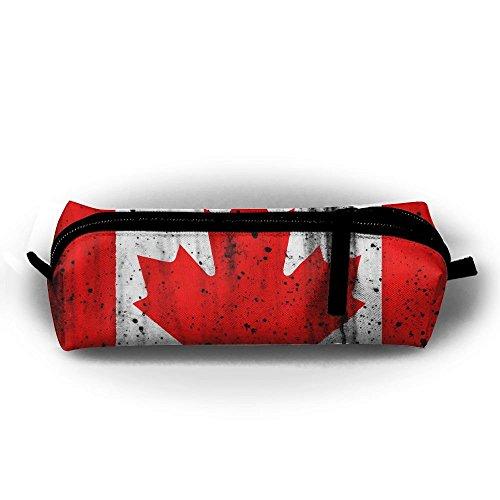 Splash Paint Federmäppchen, Kanadische Flagge, mit Reißverschluss, kleine Kosmetiktasche, Make-up-Tasche, Münzbörse, für Kinder, Jugendliche und andere Schulbedarf -