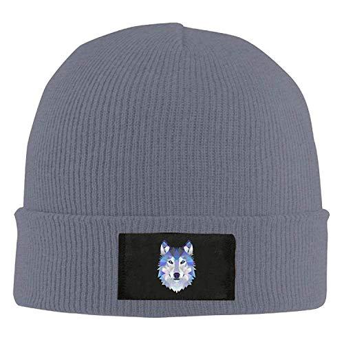 fboylovefor Wolf Animals Winter Warm Knit Hats Skull Caps Stretchy Cuff Beanie Hat Unisex Asphalt