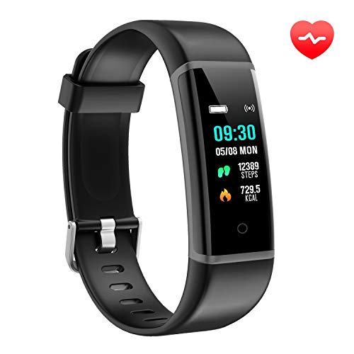 AUSUN Fitness Tracker, FT901HR Orologio Fitness Activity Tracker Cardio Impermeabile IP67 Smart Watch Cardiofrequenzimetro, Grigio Nero