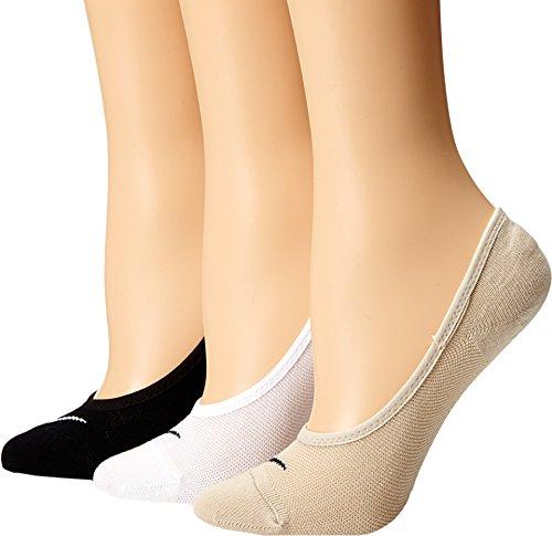 Nike Damen Socken No Show Lightweight 3er Pack, mehrfarbig, S, SX4863-900 (Lightweight Sport-socken Baumwolle)