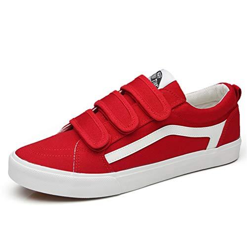 XI-GUA Canvas Schuhe für Herren lässig niedrigen Flache Stadt Arbeitsmarkt mit Anti Rutsch Velcro Schuhe 43