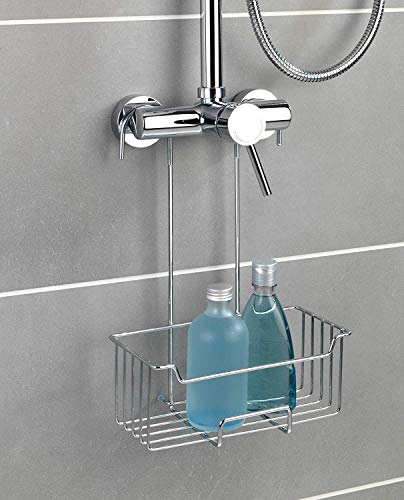 WENKO 23499100 Thermostat-Dusch-Caddy Milo, Duschregal zum Einhängen, Edelstahl rostfrei, 25 x 36 x 14 cm, Glänzend