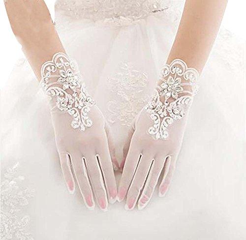 Schöne Spitze Frauen Hochzeit Handschuhe Braut Handschuhe