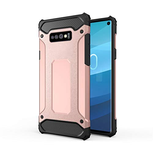 Forhouse Hülle Durable Protective Case Hülle, Thin Anti-Scratch Skin Back Hülle Full Cover für Samsung Galaxy S10 Lite - Rose Gold