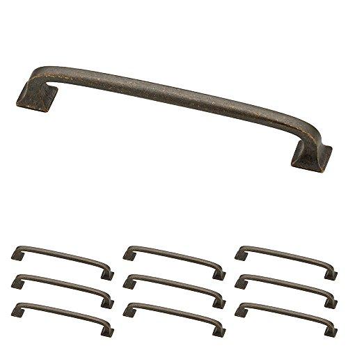 Franklin Laiton Argent 12,7 cm Lombard d'antan de cuisine ou meubles Cabinet Hardware Poignée de tiroir Pull, P29614K-WCN-B