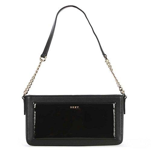 DKNY Bryant Park Petit Sac En Cuir Noir Bandoulière Black Leather