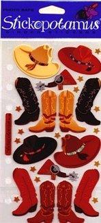 Bulk Buy: Sticko Klassische Aufkleber Cowboy Hüte und Stiefel sp-pc08(6er Pack)