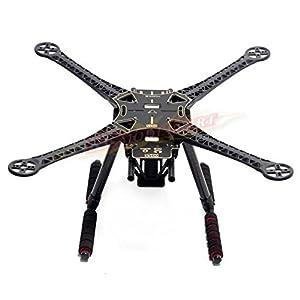 Rcmodelpart S500 Quadcopter Fuselage Frame Kit PCB Version w/ Carbon Fiber Landing Gear Skid by Rcmodelpart