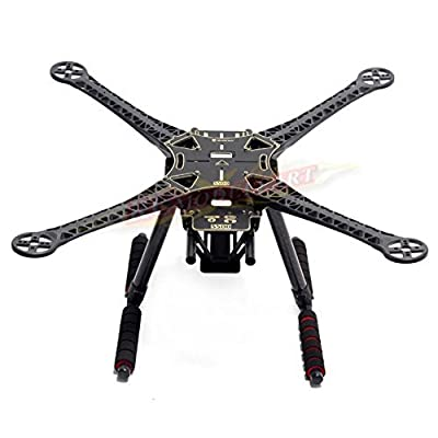 Rcmodelpart S500 Quadcopter Fuselage Frame Kit PCB Version w/ Carbon Fiber Landing Gear Skid by Rcmodelpart