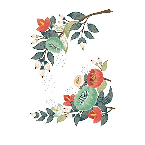 XCGZ Wandsticker 1 Satz 20 * 30 cm PVC Blatt Glocke Blume Wandaufkleber Papier Kleiderschrank Wc Waschmaschine Kühlschrank (Dschungel-wc-papier)