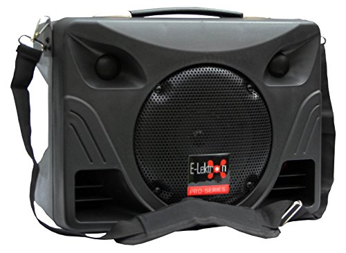 E-Lektron EL21-P tragbares Soundsystem USB/SD Bluetooth Soundanlage mit Akku und Mikrofon
