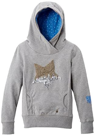 Tommy hilfiger - trixie - sweat-shirt à capuche - fille - gris (mid grey heather) - 12