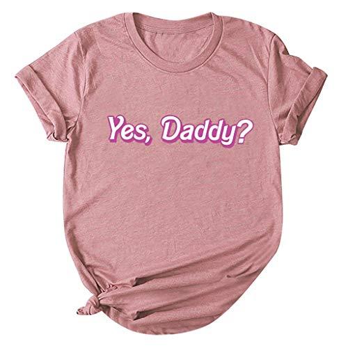 Day.LIN Damen T-Shirt Kurzarm Sommer Shirt Lose Strech Bluse Tops Causal Oberteil Basic Tee