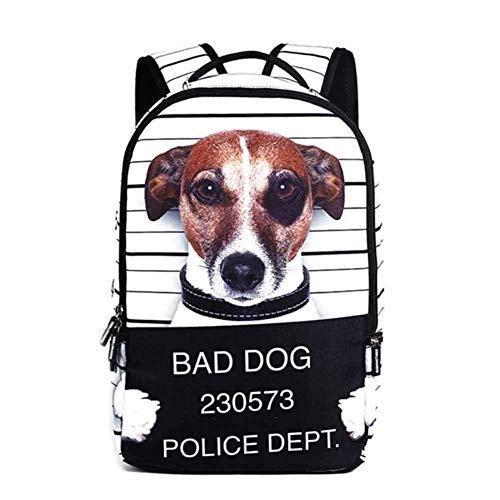 Schulrucksack Schultaschen Mädchen Jungs Teenager Rucksack Schultasche Katze Hund gedruckt Schulrucksäcke Backpack Daypacks für Damen Herren