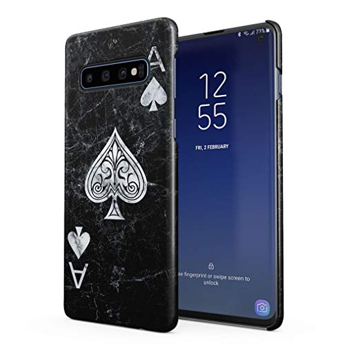 Maceste Ace of Spades Black Marble Kompatibel mit Samsung Galaxy S10 Plus SnapOn Hard Plastic Phone Protective Fall Handyhülle Case Cover