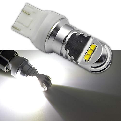 Ruiandsion 7443 Ampoule LED CC 12-24V 30W 6000K Blanc 1000LM CREE 6SMD Ampoule LED pour éclairage de recul Clignotant Feu de recul (2 pièces)