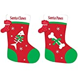 CUTE SANTA PAWS FOR DOGS OR SANTA CLAWS FOR CATS CHRISTMAS STOCKING