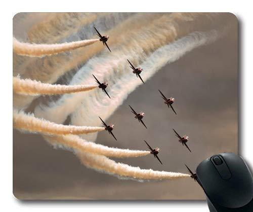Kampfflugzeug, Bequeme Mausunterlage, c-Flügelkämpfer, Mausunterlage mit genähten Kanten