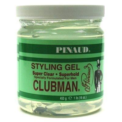 Super Hold Styling Gel (Clubman Design Gel Super Clear Super Hold 475 ml Jar (Packung mit 2))