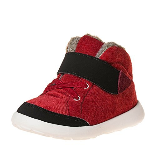 Little-lamb originals blue hi top sneaker bottes rouge