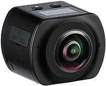MIXMART Cámara Deportiva Camara Angular 360 grados 4K WiFi Impermeable Sumergible hasta 30m Sensor de Sony 16MP Ultra HD con Accesorios Múltiples