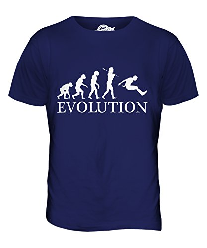 CandyMix Weitsprung Evolution Des Menschen Herren T Shirt Navy Blau