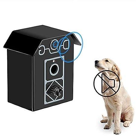 Hamkaw Anti-Bell-Gerät, Ultraschall Hunde Anti-bark, Bellen Schalldämpfer, Wasserdicht, für den Außenbereich, mit 4 einstellbaren Modi, sicher für kleine/mittelgroße und große Hunde