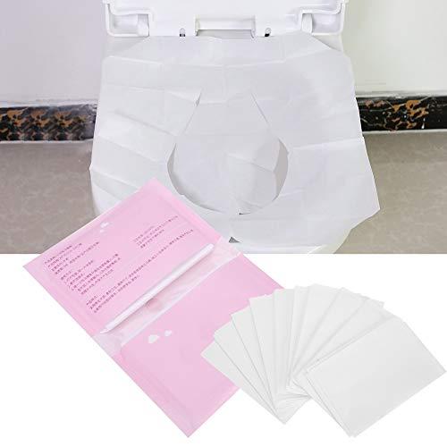 Jadeshay carta sedile wc, 5 sacchetti carta igienica monouso per viaggi, 10 plichi/borsa