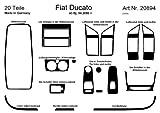 Prewoodec Armaturenbrett-Veredelung Aluminium für Fiat Ducato ab Baujahr 04/2006