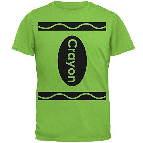 Halloween Crayon Kostüm Herren T Shirt Lime 2XL