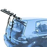 EMMEA PORTABICI Posteriore Auto 3 Bici Regolazione Cinghie Biciclette Compatibile con KIA Rio 5P (05-11) Acciaio CARICO Max 45KG Protezione TELAI Cruiser Delux